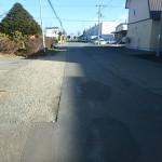 車出入り 南側道路(周辺)